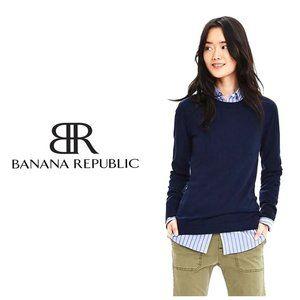BANANA REPUBLIC Merino Wool/Cashmere Navy …